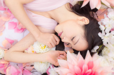 stock-photo-58104840-girl-in-flowers-sleeping-spa